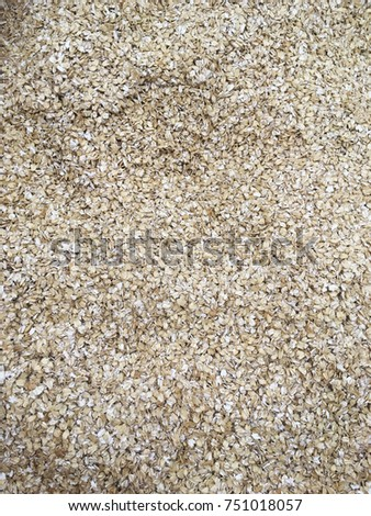 oat flakes as background. raw oat flakes  #751018057