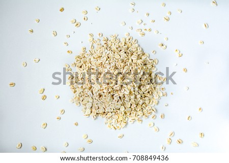 Oat flakes background #708849436