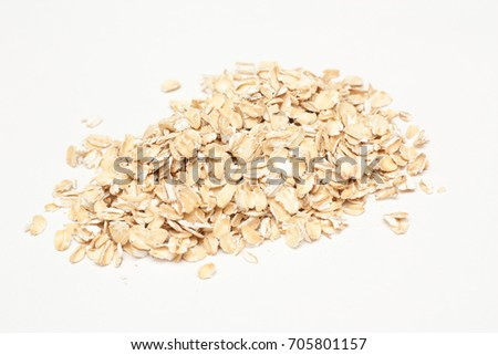 "oat flakes ""Hercules"" closeup isolate #705801157"