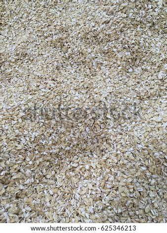 oat flakes. oat flake texture. oat flakes background. oat flake close up  #625346213
