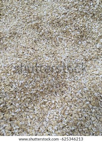 oat flakes. oat flake texture. oat flakes background. oat flake close up  #625346213