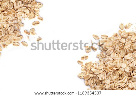 Oat flakes. Pattern of oat flakes. Hercules as background #1189354537