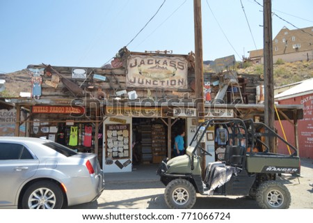 oatman bank on route 66 . june...