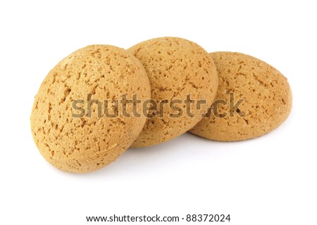 Oatmeal cookies isolated on a white background