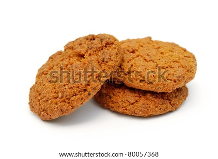 oatmeal cookies isolated on white