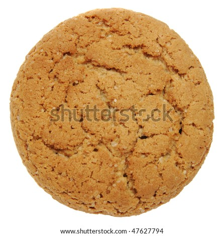 Oatmeal cookies on the white background