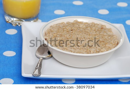 oatmeal with orange juice