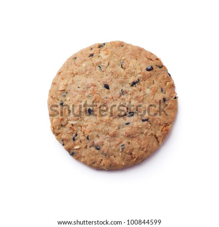 oats cookies isolated on background
