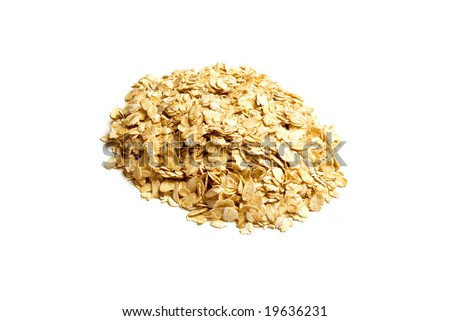 Oats isolated on white background
