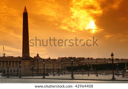 obelisk of concorde place in Paris