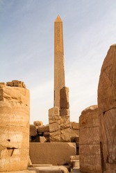 Obelisk of the Hatshepsut in Karnak temple, Luxor, Egypt