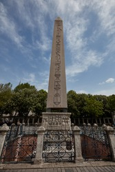Obelisk of Theodosius Egyptian obelisk Ancient Egyptian obelisk of Pharaoh Thutmose III Istanbul Turkey