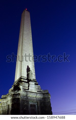 Obelisk on One Tree Hill in Auckland