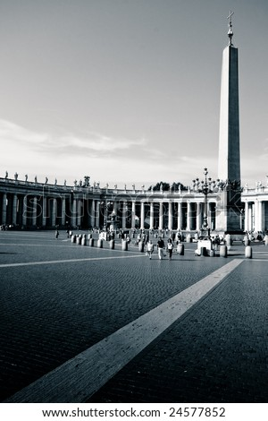 Obelisk on Saint Peter's Square - stock photo
