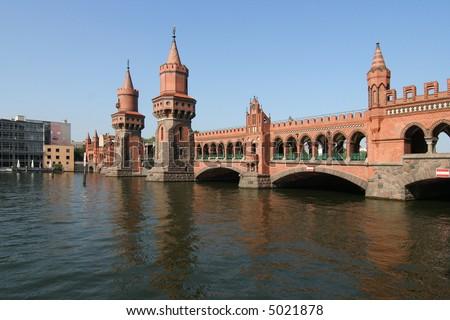 Oberbaumbrucke across the Spree, longest bridge of Berlin