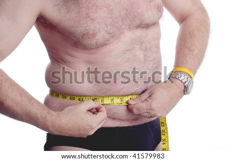 stock photo obese man pulling a tape tight to try and reduce his measurements 41579983 Clip 119345: Medium shot stock video of obese fat weight   HD 1920x1080, ...
