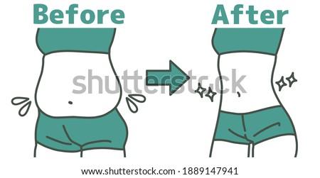 Obese women's waist and slim women's waist Сток-фото ©