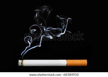 Object on black - cigarette