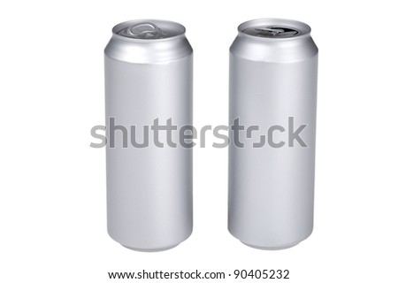 object on white - beverage can
