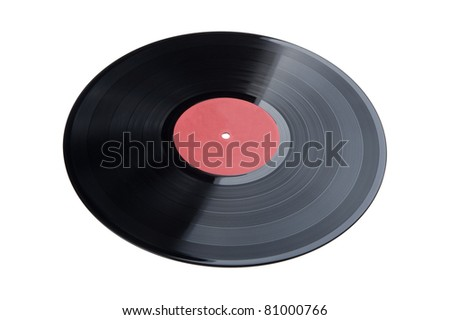 object on white - black vinyl record
