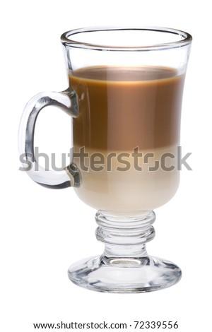object on white - Irish coffee close up - stock photo