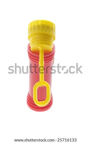 object on white - toy bubble wand - stock photo