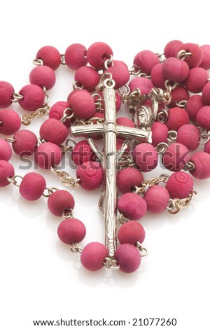 object on white - Vatican beads with cross