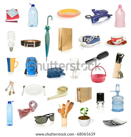 objects collection isolated on white