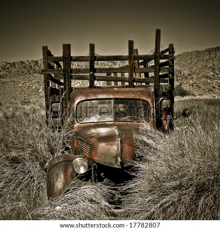 Objects in various stages of decay and aging, abandoned and forgotten - truck