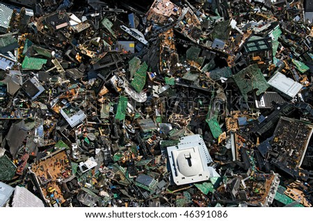 Obsolete circuit boards for recycling