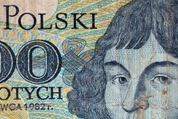 Obverse of 1000 Polish zloty for design purpose