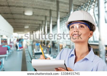 Occupation green environment engineer construction women built structure #1338455741