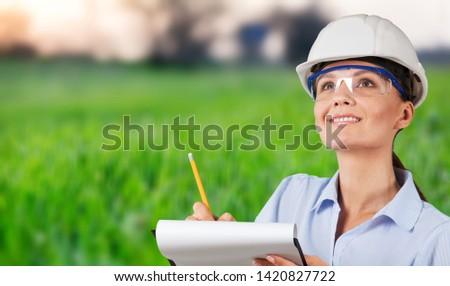 Occupation green environment engineer construction women built structure #1420827722