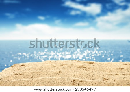 ocean and sand and sky