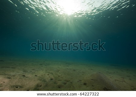 Ocean and sun in the Red Sea.