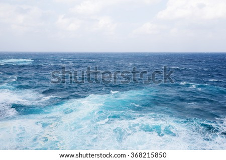 Ocean and wave