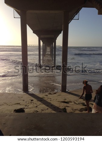 Ocean Beach Pier from Below #1203593194