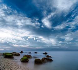 Ocean beautiful morning sunrise landscape