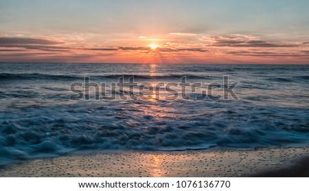 Ocean City Maryland sunrise over the Atlantic Ocean #1076136770
