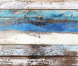 Ocean colored wooden panels background texture