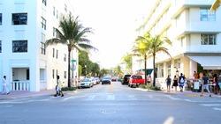 Ocean Drive Street in South Beach Miami