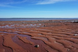Ocean floor as seen at low tide in the Bay of Fundy Nova Scotia, Canada
