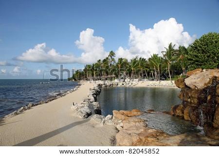 Ocean front walk in the Florida Keys