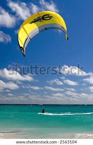 Ocean Kite Surfing - stock photo