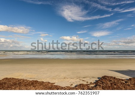 Ocean landscape with clouds #762351907