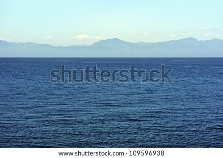 Ocean Panorama - Pacific Ocean and British Columbia, Canada Shore. Nature Photo Collection.