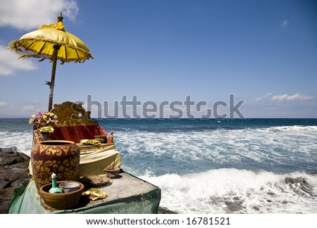 Ocean shrine - stock photo