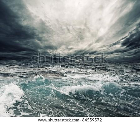 Stock Photo Ocean storm
