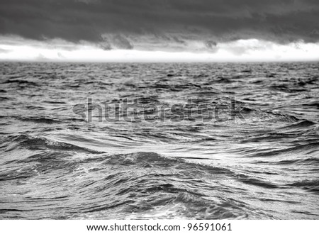 Ocean - Stormy sea with waves and dramatic sky