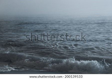 Ocean view, Blue sea waves, evening sea background, ocean landscape.